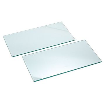IT Kitchens Glass Cupboard Shelf (L)567mm (D)247mm, Pack of 2