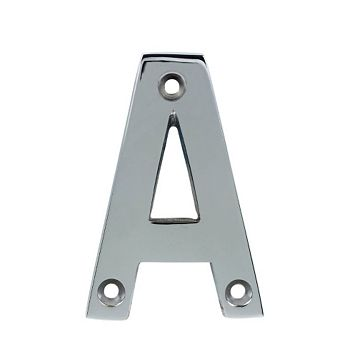 Chrome Effect House Letter A