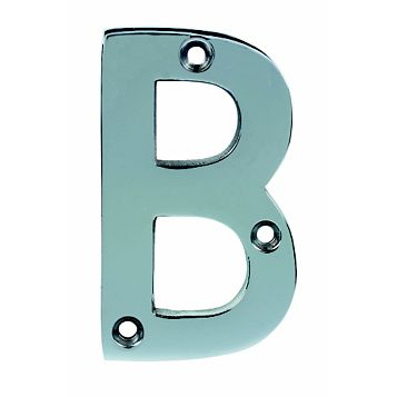 Chrome Effect House Letter B