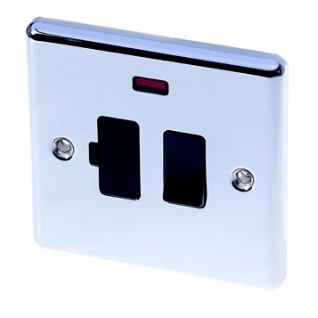 Lap Chrome Effect Switched Fused Connection Unit 13A