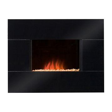 Blyss ENYA Black Wall Hung Electric Fire