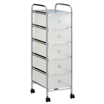 Cooke & Lewis Consort Chrome Effect Steel & Plastic Storage Trolley