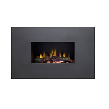Ignite Mono Black Manual Control Inset Wall Mounted Gas Fire
