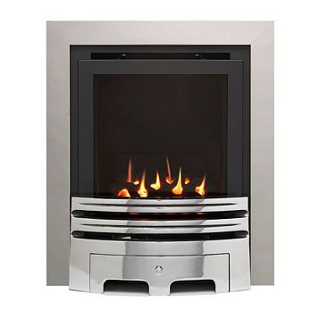 Westerly Glass Fronted Chrome Inset High Efficiency Multiflue Gas Fire