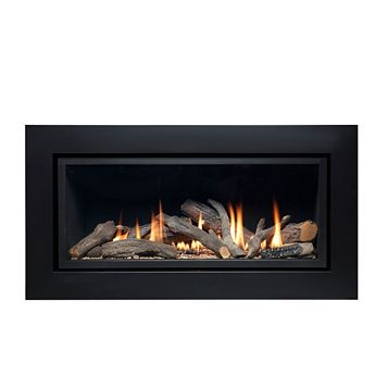 Ignite Pinnacle Black Remote Control Inset Wall Mounted Gas Fire