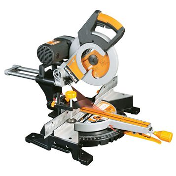 Evolution Professional 2000W 255mm Double Bevel Sliding Compound Mitre Saw RAGE3DB