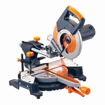 Evolution Rage 2000W 240V 255mm Sliding Compound Mitre Saw RAGE3FP2552