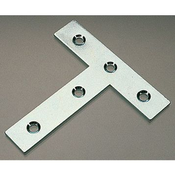 Zinc Plated Steel Tee Plate, 77mm x 16.3mm, Pack of 10