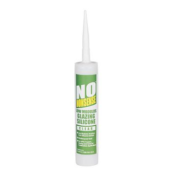 No Nonsense Sealing & Filling Gaps & Cracks Glazing & Frame Sealant Clear, 310ml