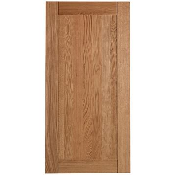Cooke & Lewis Chesterton Solid Oak Fridge Freezer Door (W)600mm