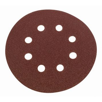 Flexovit 50/80/120 Grit Sanding Disc (W)125mm (Dia)125mm, Pack of 6