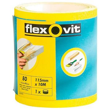 Flexovit (L) 50m 80 Grit Abrasive Roll Of 1