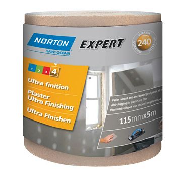 Norton Expert 240 Grit Sandpaper Roll (L)5m (W)115mm