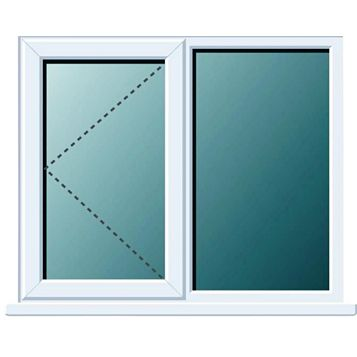 Frame One PVCu LH Side Hung with Fixed Lite Window 970 x 1190 mm