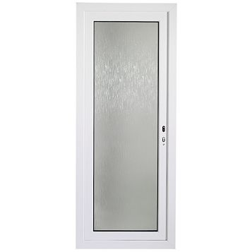 White PVCu Fully Glazed Back Door & Frame Lh, (H)2055mm (W)840mm