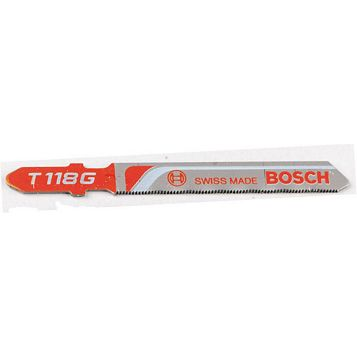 Bosch Bayonet Fitting Jigsaw Blade T118G 67mm, Pack of 5