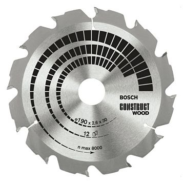 Bosch 12T Circular Saw Blade (Dia)190mm