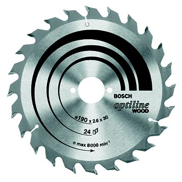 Bosch 40T Circular Saw Blade (Dia)250mm