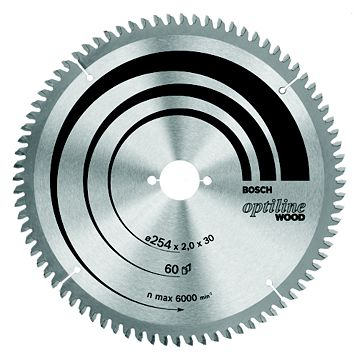 Bosch 60T Circular Saw Blade (Dia)254mm
