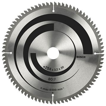 Bosch 80T Circular Saw Blade (Dia)254mm