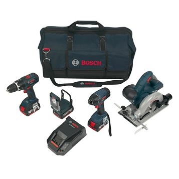 Bosch Li-Ion Cordless Power Tool Kit 3 x Batteries Included BAG+4DS