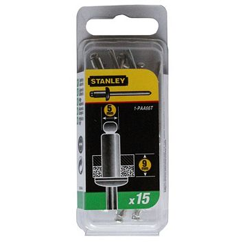 Stanley Staples 1-PAA66T (Dia)4mm (L)12mm 200G, Pack of 15