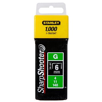 Stanley Staples 1-TRA704T (L)6mm 118G, Pack of 1000