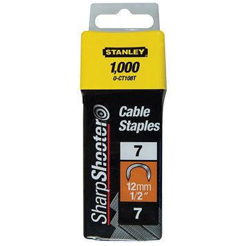 Stanley Staples 1-CT108T (L)132mm 165G, Pack of 1000
