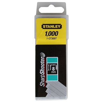 Stanley Staples 1-CT305T (L)8mm 60G, Pack of 1000