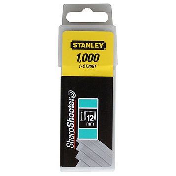 Stanley Staples 1-CT308T (L)12mm 85G, Pack of 1000