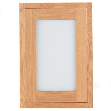 Cooke & Lewis Carisbrooke Oak Framed Glazed Door (W)500mm