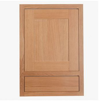 Cooke & Lewis Carisbrooke Oak Framed Drawerline Door & Drawer Front (W)500mm, Set of 1 Door & 1 Drawer Pack
