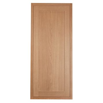 Cooke & Lewis Carisbrooke Oak Framed Fridge Freezer Door (W)600mm