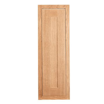 Cooke & Lewis Carisbrooke Oak Framed Tall Standard Door (W)300mm