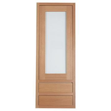 Cooke & Lewis Carisbrooke Oak Framed Tall Dresser Door & Drawer Front (W)500mm, Set of 3