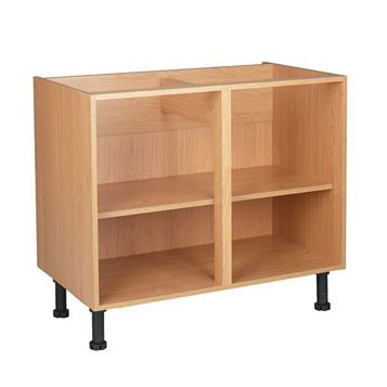 Cooke & Lewis Oak Effect Standard Base Cabinet Unit Carcass (W)1m