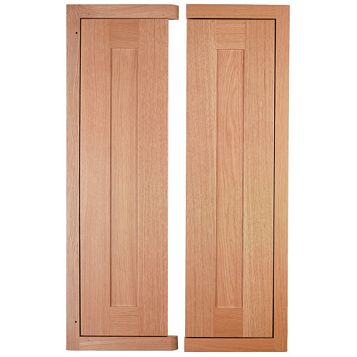 Cooke & Lewis Carisbrooke Oak Framed Tall Corner Wall Door (W)625mm, Set of 2
