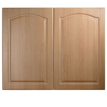 IT Kitchens Chilton Traditional Oak Effect Larder Door (W)600mm, Set of 2