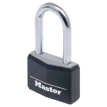 Master Lock Aluminium Body with Hardened Steel Shackle 4-Pin Tumbler Cylinder Padlock (W)40mm