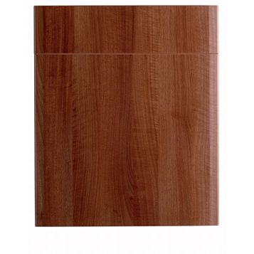 IT Kitchens Sandford Walnut Effect Modern Drawerline Door & Drawer Front (W)600mm, Set of 1 Door & 1 Drawer Pack