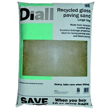 Diall Recycled Glass Paving Sand 22.5kg