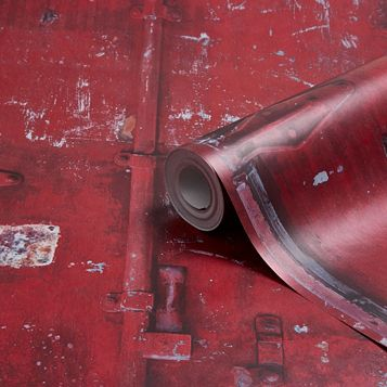 Dockyard Red Cargo Mid Sheen Wallpaper