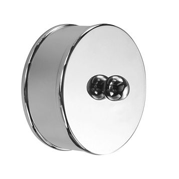 Metal (W)60mm Medium Handrail End Cap, Pack of 2