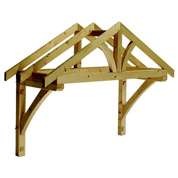 Cheshire Mouldings Pine Apex Porch Canopy 1190 x 1559 x 605 mm