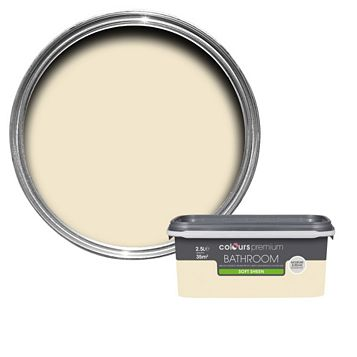 Colours Bathroom Magnolia Soft Sheen Emulsion Paint 2.5L