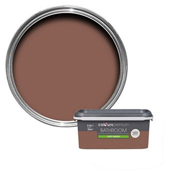 Colours Bathroom Fired Brick Soft Sheen Emulsion Paint 2.5L