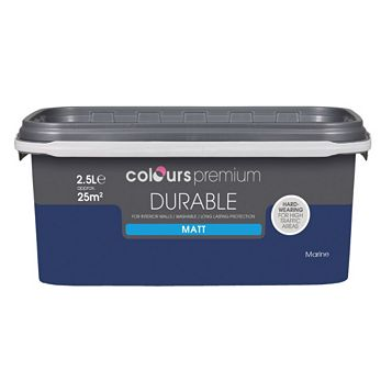 Colours Durable Marine Matt Emulsion Paint 2.5L