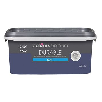 Colours Durable Atlantik Matt Emulsion Paint 2.5L