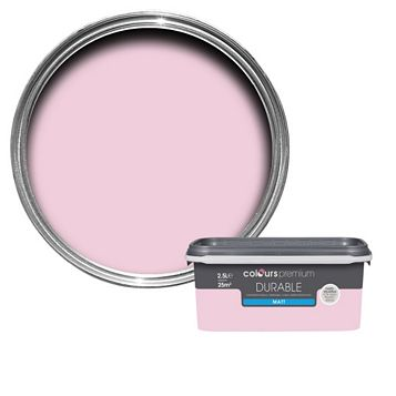 Colours Durable Pink Pink Matt Emulsion Paint 2.5L