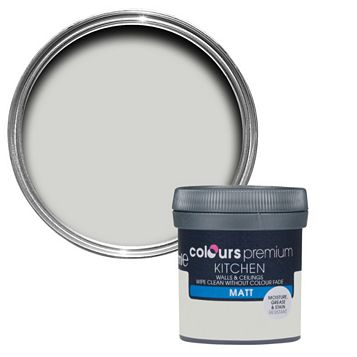 Colours Kitchen Grey Hints Matt Emulsion Paint 50ml Tester Pot
